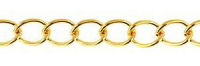 Large Curb Chain Gold Plated x1m