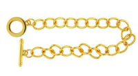 Bracelet Blank &Toggle Gold Plated x1
