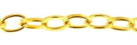 Flat Oval Chain Gold Plated x1m