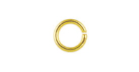 6mm Round Jump Ring Gold Plated x 12