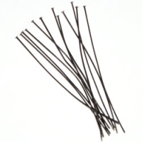 "2"" Head Pin (50mm x 0.5mm) Gunmetal Plated x144"