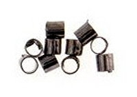 2mm Crimp Tube Gunmetal Plated x100