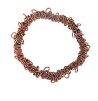 Stretch Bracelet Blank Antique Copper Plated x 1