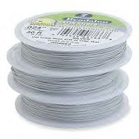 "19 Strand Satin Silver .015"" (.38mm)  Beadalon Wire 30ft"
