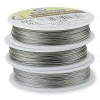 "19 Strand Bright .015"" (.38mm)  Beadalon Wire 30ft"
