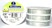 7 Strand Satin Silver .018 (.46mm) Beadalon Wire 30ft