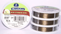 "7  Strand Bronze .015"" (.38mm) Beadalon Wire 30ft"