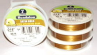 "7 strand Satin Gold .015"" (.38mm) Beadalon Wire 30ft"