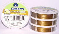 "7 Strand Satin Gold .018"" (.46mm) Beadalon Wire 30ft"
