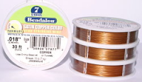"7 Strand Satin Copper .018"" (.46mm) Beadalon Wire 30ft"