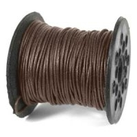 Brown 0.5mm Round Leather Cord x 5 yard