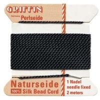 Black Griffin Silk Cord  (0.5mm) Size 3