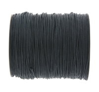0.6mm Black Cotton Cord x 1 yard