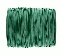 0.6mm Dark Green Cotton Cord x 1 yard