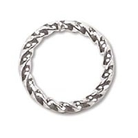 10mm Twisted Jump Ring Silver Plated x 12