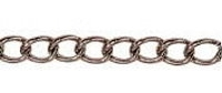 Small Oval Curb Chain Gunmetal Plated x 1mt
