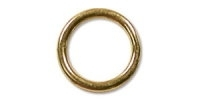 9x1mm Jump Rings Gold Plated x 30