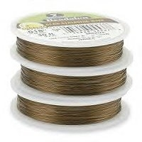 "7 Strand Bronze .018"" (.46mm) Beadalon Wire 30ft"