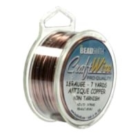 1.02mm Non-Tarnish Antique Copper Plated Wire x 1