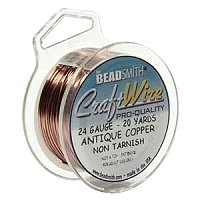 0.41mm Non-Tarnish Antique Copper Plated Wire x 1