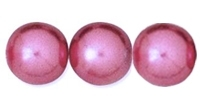 Purple Rose 8mm Glass Pearl Bead x10