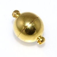 Magnetic Clasp 12mm Gold Plated x1