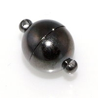 Magnetic Clasp 12mm Gunmetal Plated x1