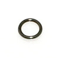 6mm Closed Jump Ring Gunmetal Plated x 30