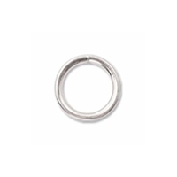 5mm Closed Jump Ring Silver Plated x 25