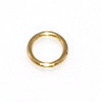 5mm Closed Jump Ring Gold Plated x 30