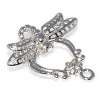 Dragonfly Toggle Clasp Rhodium Plated x1