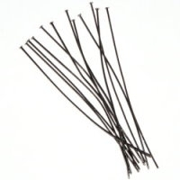"1.5"" Head Pin (35mm x 0.7mm) Gunmetal Plated x 144"