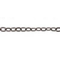 Small Flat Trace Chain Gunmetal Plated x 1mt