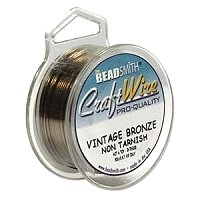 0.64mm Non-Tarnish Vintage Bronze Plated Wire x 1