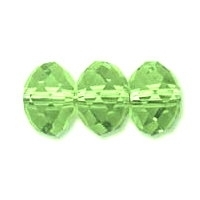 Peridot Green Lustre 6x4mm Crystal Rondelle x 50