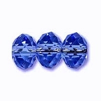 Sapphire Blue 6x4mm Crystal Rondelle x 50