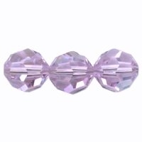 Violet 6mm Crystal Round Beads x 35