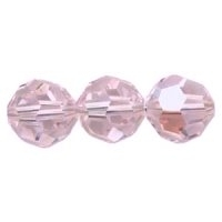 Light Pink Lustre 8mm Crystal Round Beads x 25