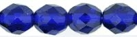 Cobalt Blue 6mm Fire-Polish Beads x 25