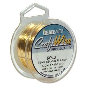 0.81mm Non-Tarnish Gold Plated Jewellery Wire x 1