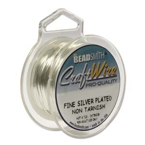 0.41mm Non-Tarnish Silver Plated Jewellery Wire x 1