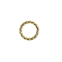 Twisted Jump Ring 6mm Gold Plated x 12