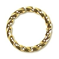 Twisted Jump Ring 10mm Gold Plated x 12