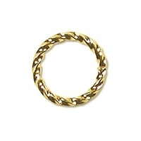 Twisted Jump Ring 8mm Gold Plated x 12