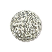 Crystal Pave 8mm Round Bead x 1