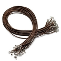 Brown Ready Made Cord Necklaces x 10