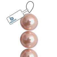 Peach 6mm Preciosa Crystal Pearls x 21