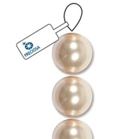 Cream Rose 6mm Preciosa Crystal Pearls x 21