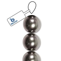 Dark Grey 6mm Preciosa Crystal Pearls x 21