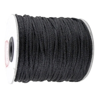 Black 2mm Rattail Cord 10yds